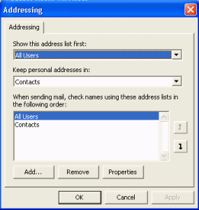 Address book options