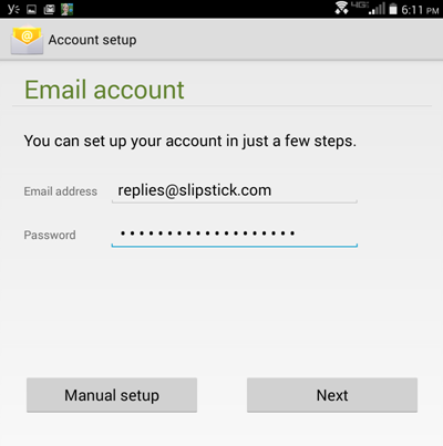 Android Account setup