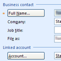 Add BCM Account name to Contact's Company field