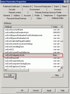 Edit the user account in ADUC