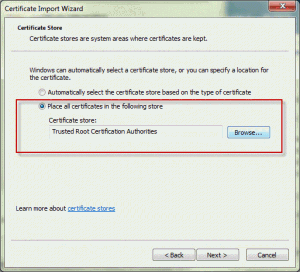 Add the certificate to trusted publishers