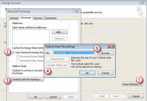Move the cached Exchange ost file in Outlook 2010 and older